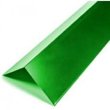 Конек плоский окрашенный 2,5 м RAL 6005 Зеленый мох