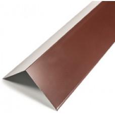 Конек плоский окрашенный 2,5 м RAL 8017 Шоколад